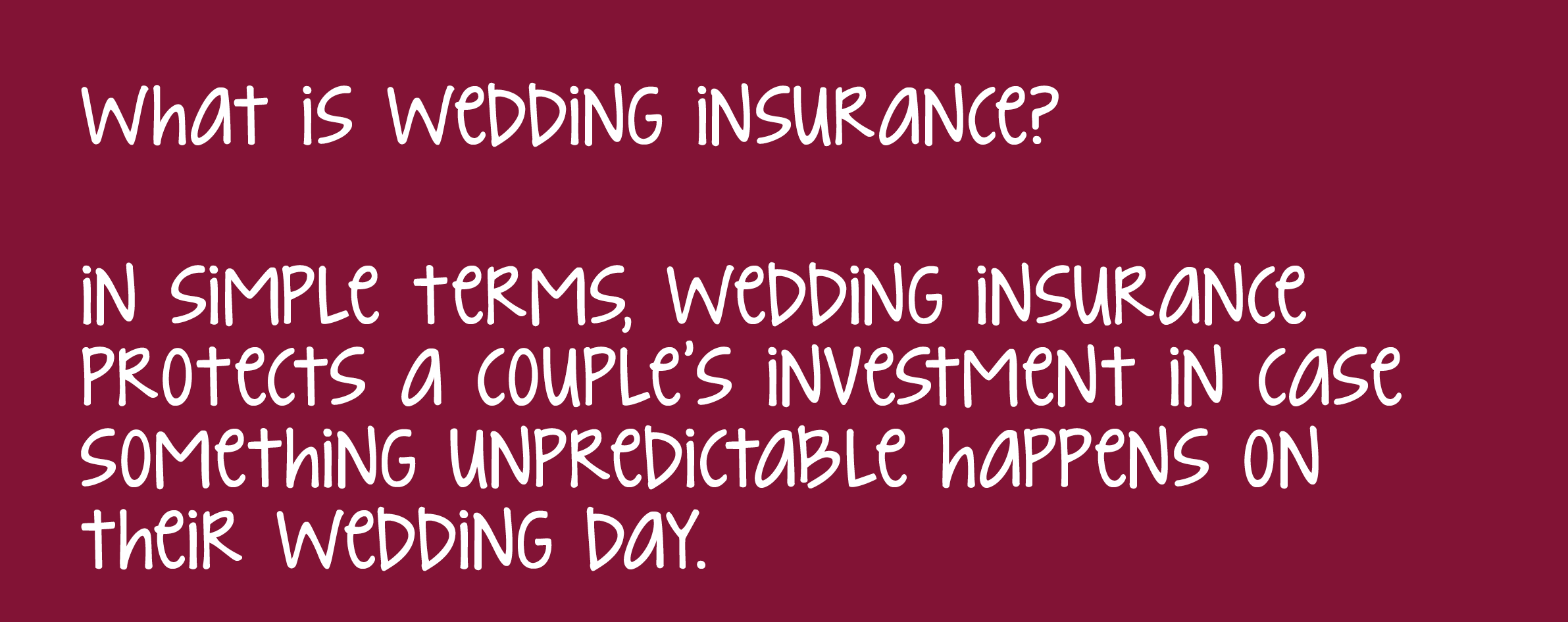 Why We Love Wedding Insurance - American Heritage Insurance Group