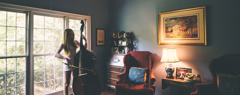 Girl, Room, Classical Bass