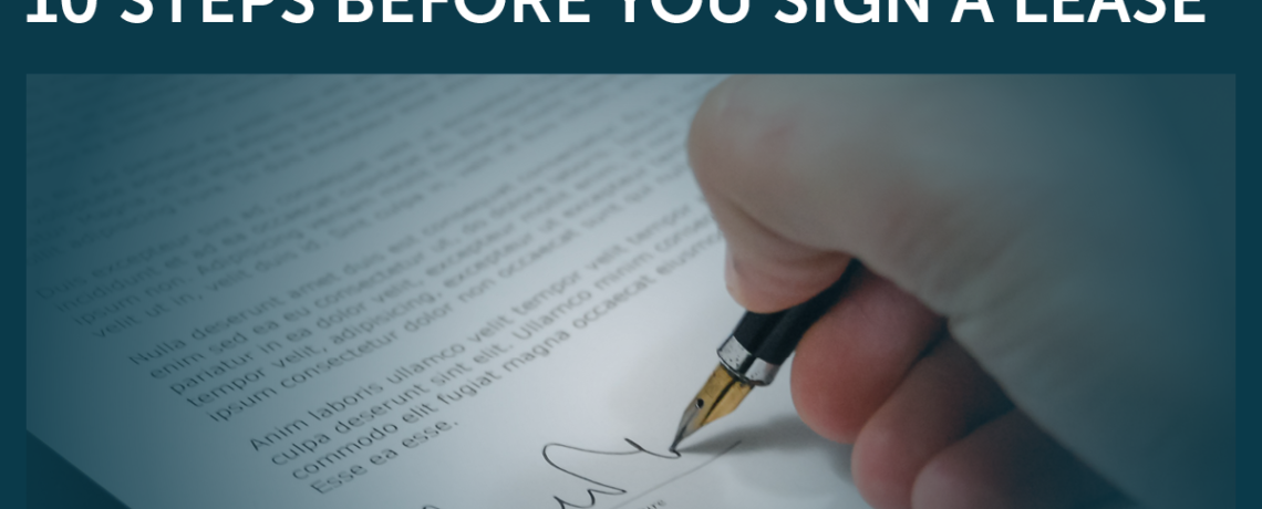 10 Steps Before You Sign a Lease