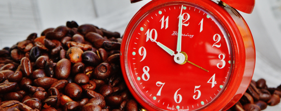 Clock, Coffee Beans